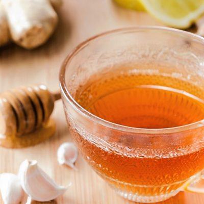 mezes-fokhagyma tea
