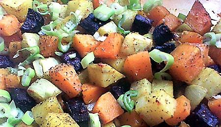 Sütőtökös tepsiskrumpli – köménnyel és rozmaringgal