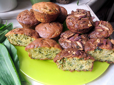 Kukoricás-medvehagymás muffin