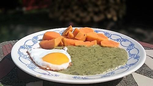Sóskafőzelék glutén- és tejmentesen batátával