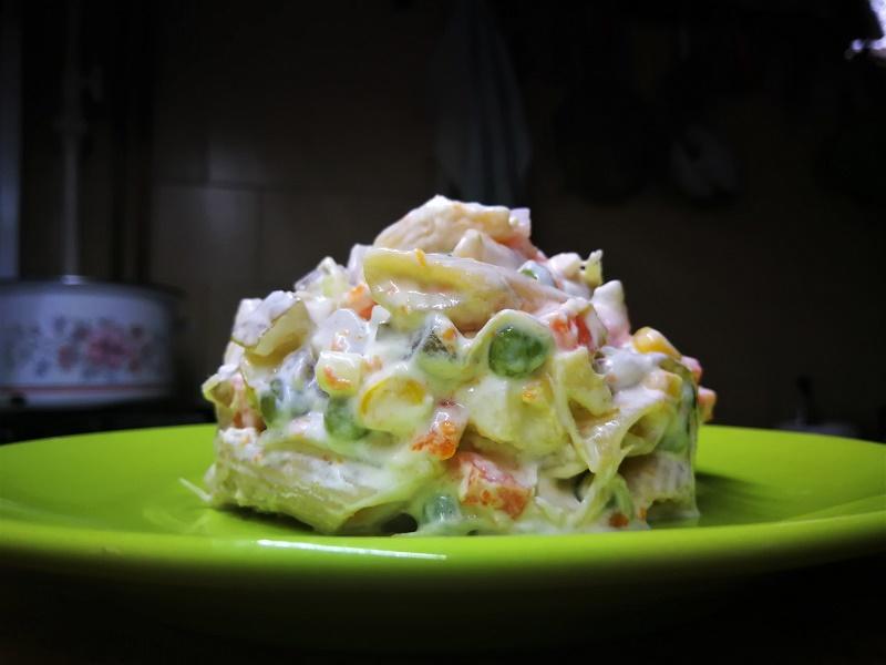 Majonézes színes tésztasaláta glutén-, tojás- és tejmentesen